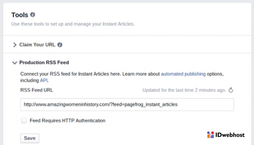 cara mengaktifkan Facebok Instant Articles