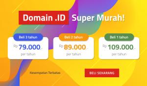 Promo Domain .ID Hanya Rp 79.000 Buruan Serbu