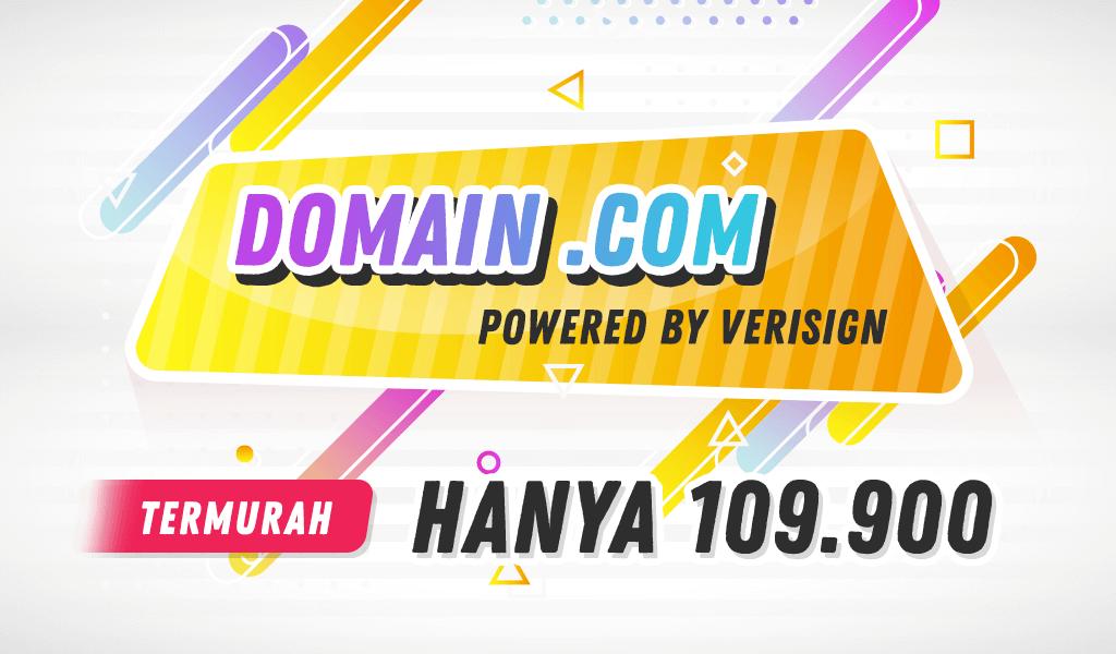 Domain .COM Turun Harga Menjadi 109.900 IDR