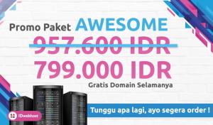 IDwebhost Promo Lagi !! Hosting Awesome 2 Tahun hanya 799.000 IDR