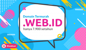 Promo Domain WEB.ID Hanya 7.900 IDR