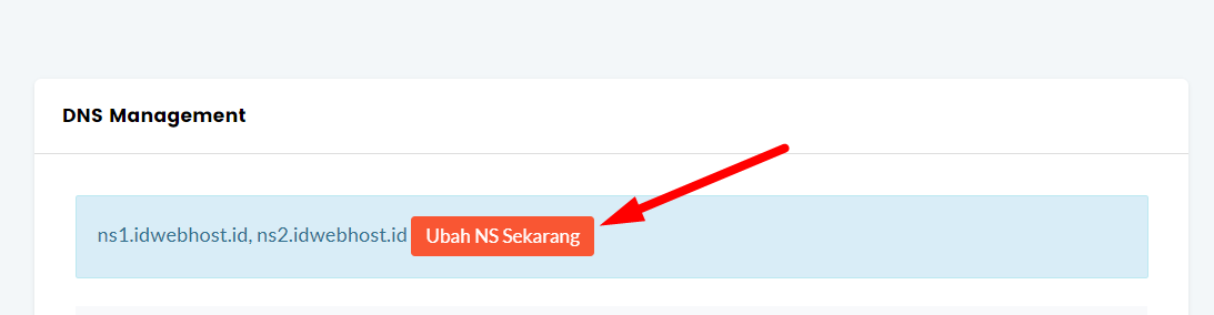ubah name server