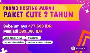 Promo Hosting Cute Murah 2 Tahun