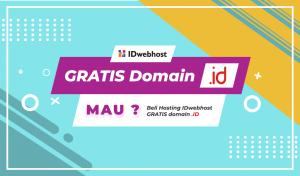 Beli Hosting Gratis Domain .ID