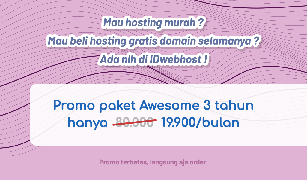 Hosting Murah Paket Awesome 19.900 IDR