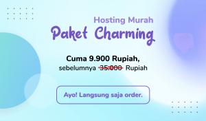 Paket Hosting Charming Hanya 9.900 Rupiah