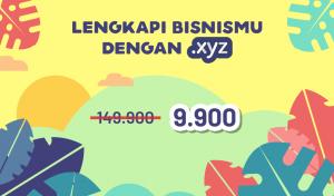 Super Murah Domain .XYZ 9.900 IDR