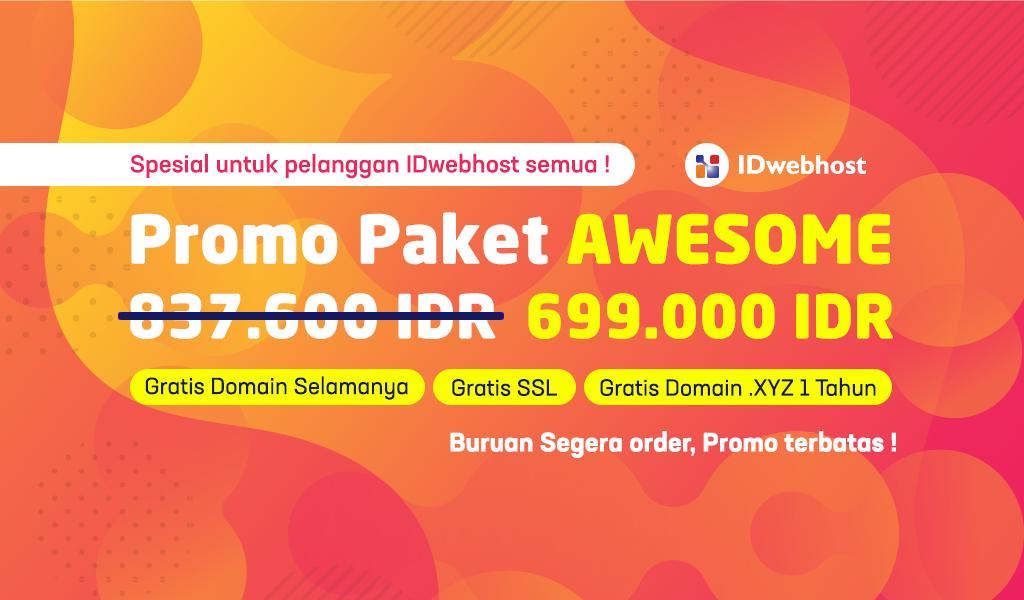 Promo Hosting Awesome 699.000 IDR