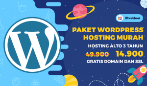 Promo Wordpress Hosting Hanya 14.900 IDR