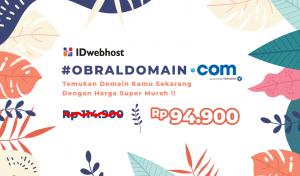 Obral Domain .COM 94.900 IDR Untuk Pengguna Instagram