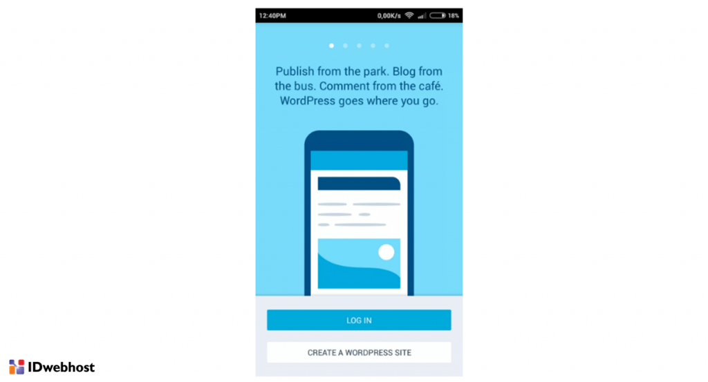setting wordpress di android