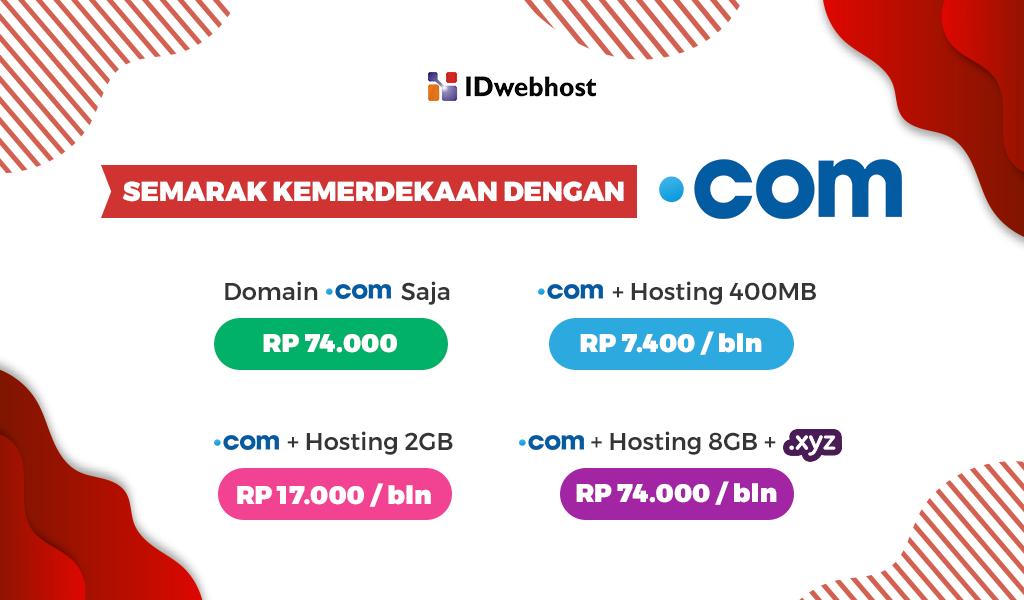 Semarak Kemerdekaan Dengan .COM