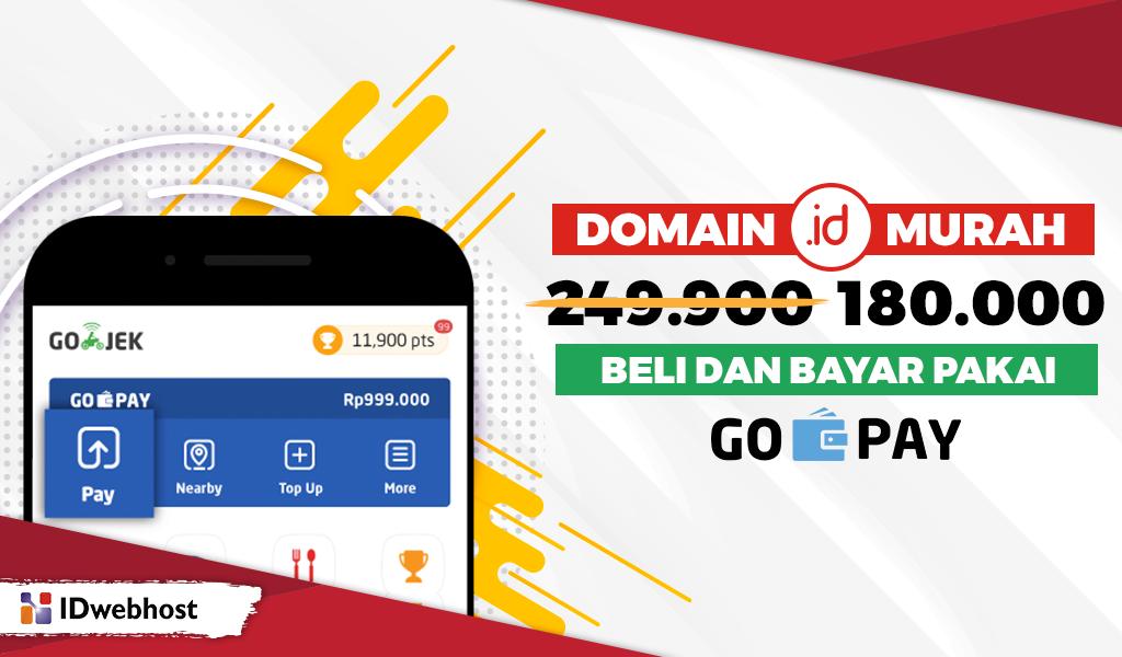 Domain ID Murah dan Bayar Pakai GoPay