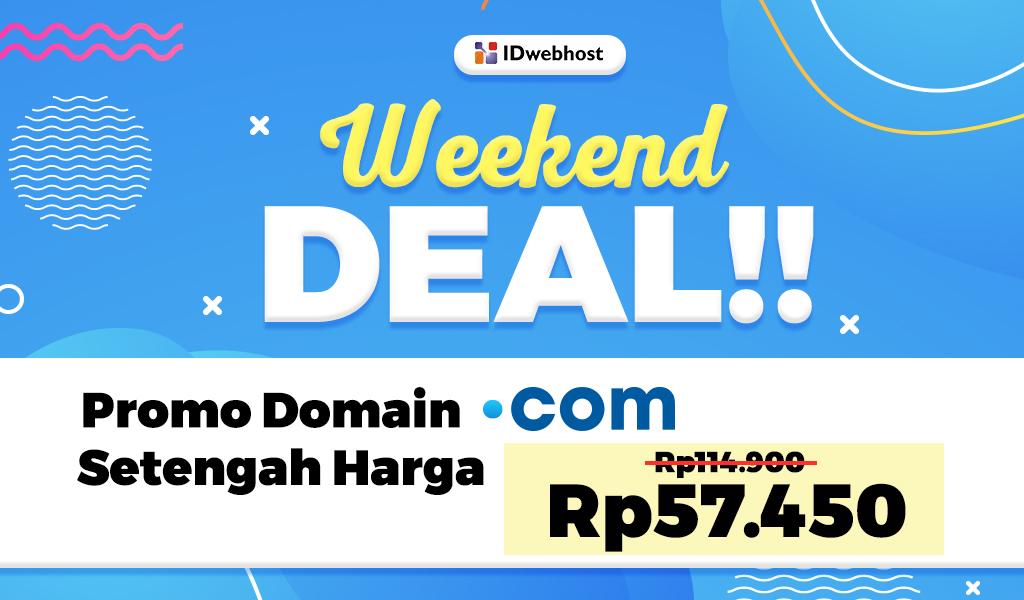 Promo Domain .COM Setengah Harga