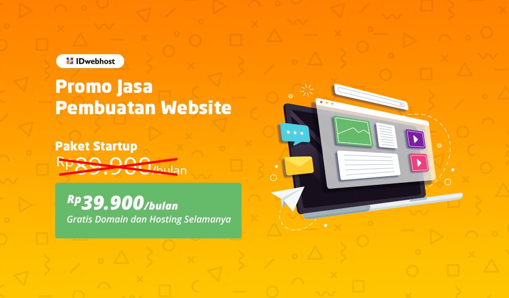 Promo Jasa Pembuatan Website Paket StartUp