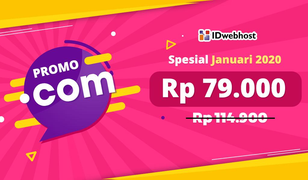 Promo Domain COM Rp79.000
