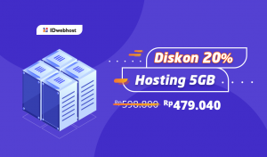 Diskon 20% Hosting 5GB