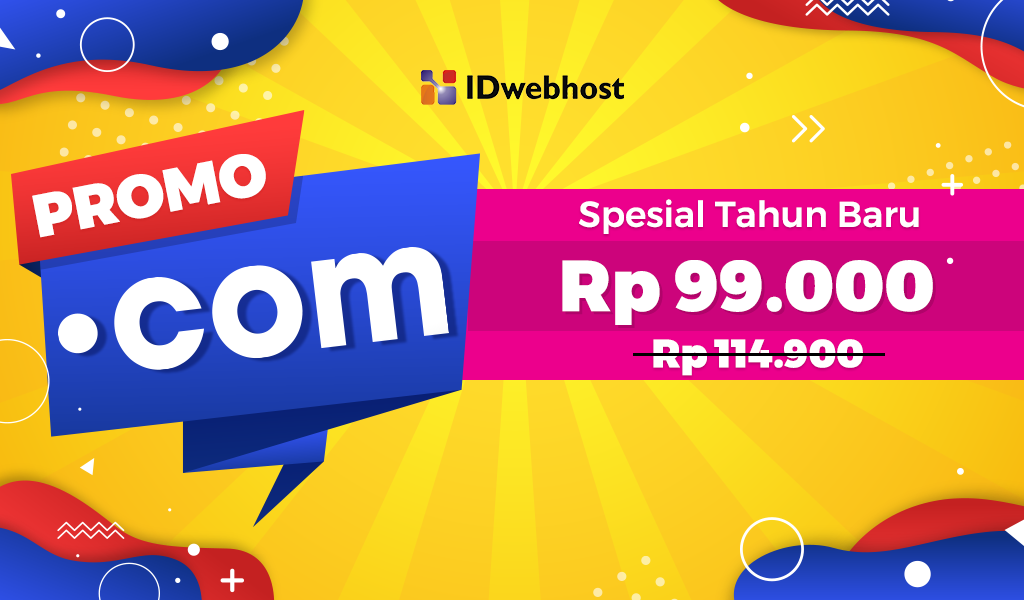 Promo .COM Spesial Tahun Baru Rp 99.000