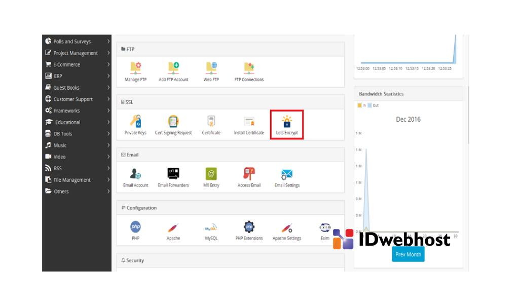 cara instal Let's Encrypt di Webuzo