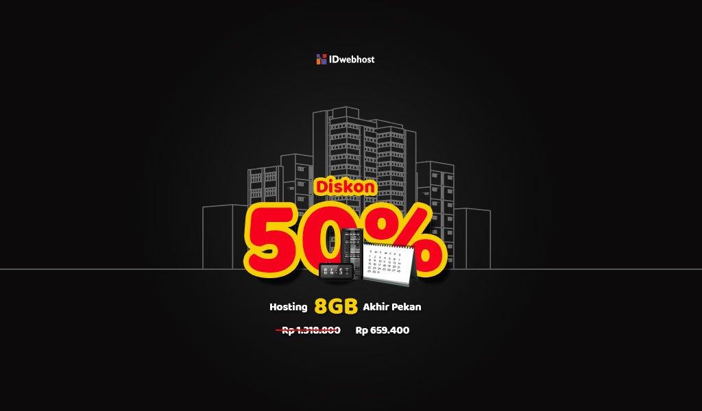 Diskon 50% Hosting Fantastic!
