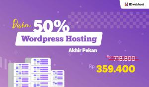 Diskon 50% Hosting WordPress