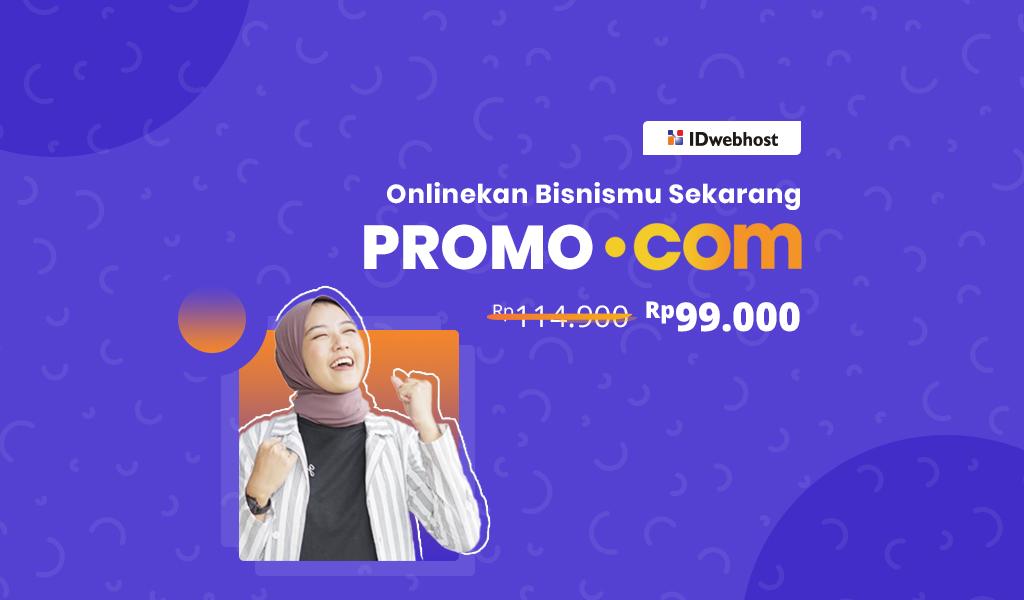 Promo .COM Rp99.000