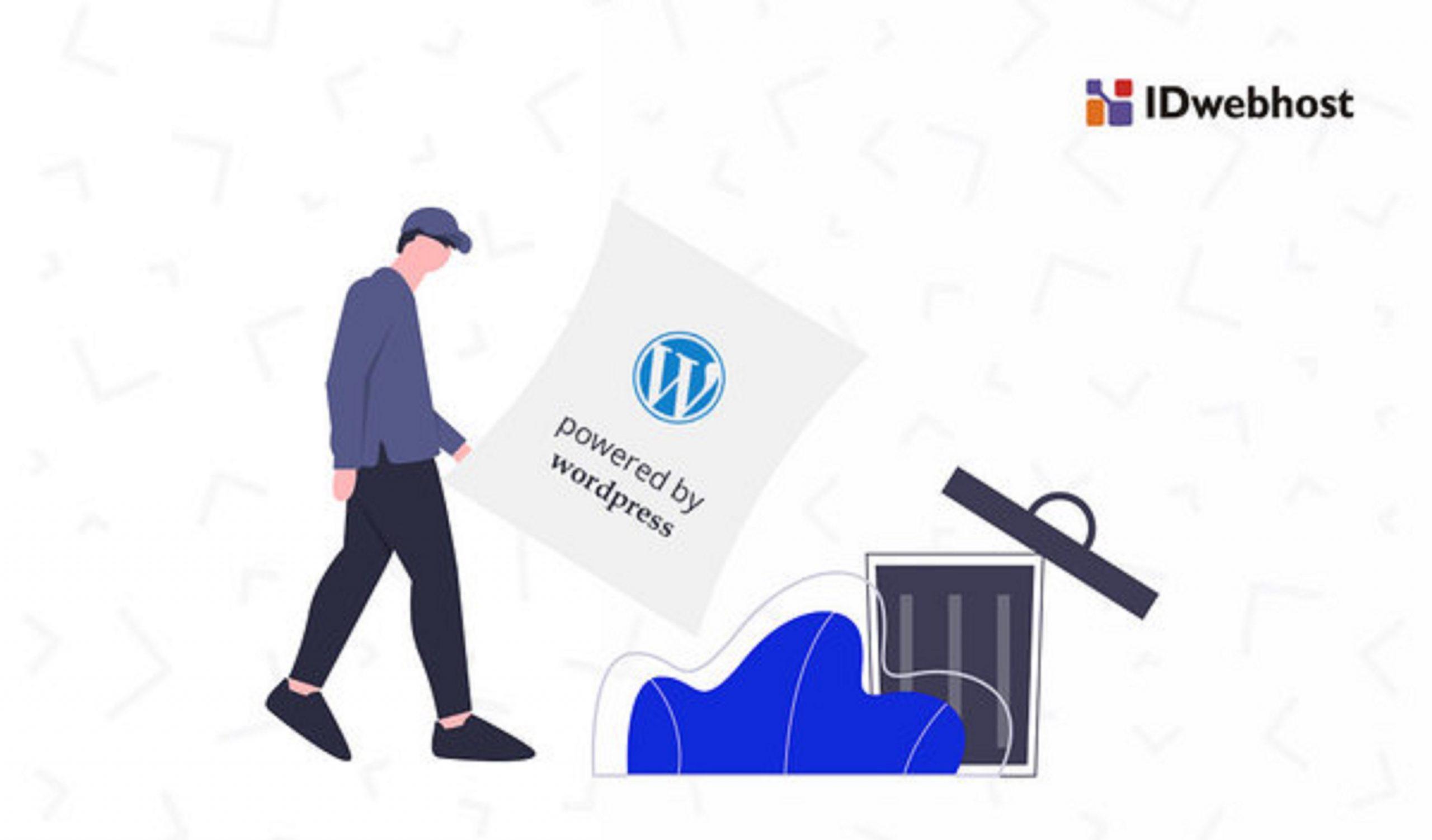 Cara hilangkan tulisan Powered by WordPress