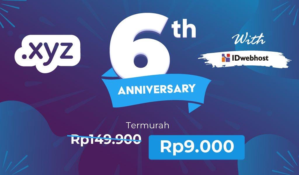 XYZ 6th Anniversary Bersama IDwebhost