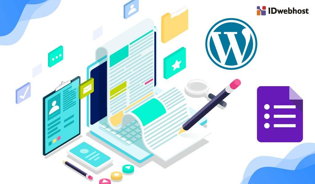 google form di wordpress