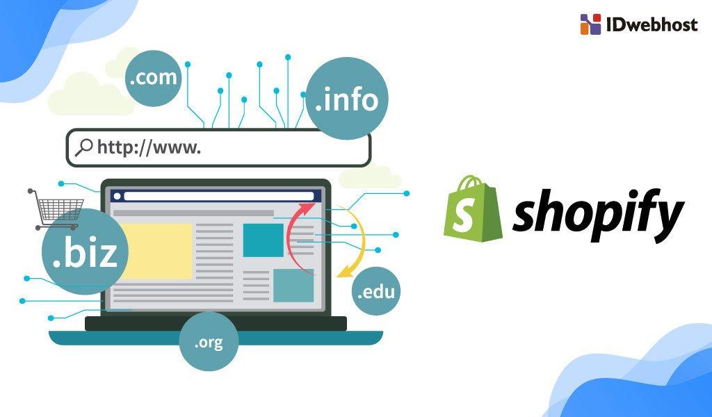 cara menghubungkan domain ke shopify