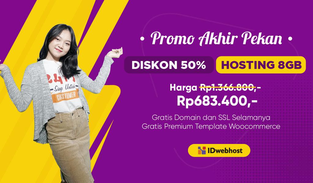 Diskon 50% Hosting Fantastic! Gratis Domain Selamanya