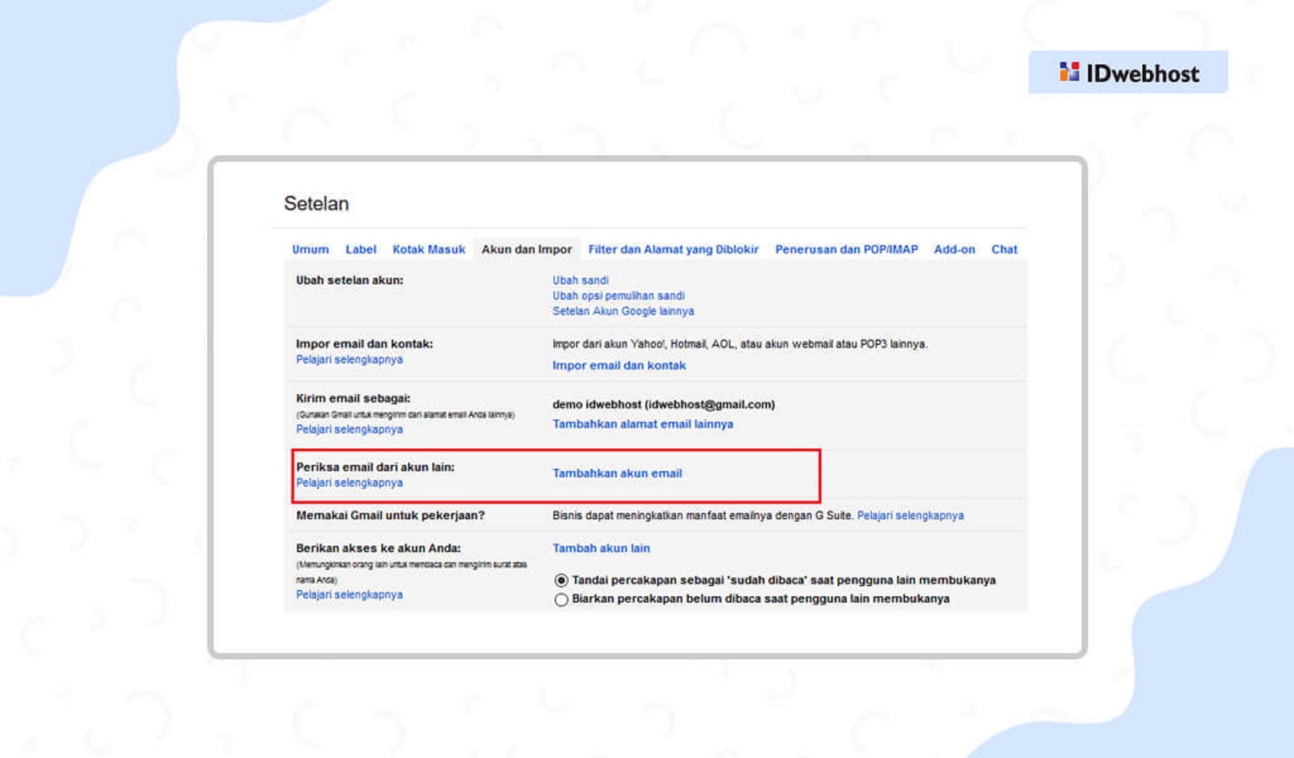 Cara Konfigurasi Email Hosting pada Gmail