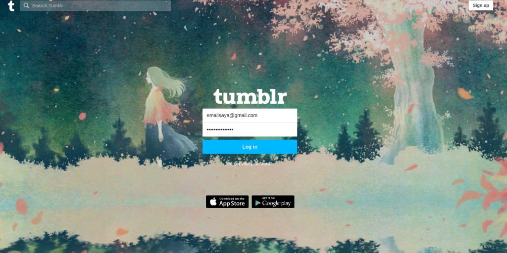 Cara Custom domain Tumblr
