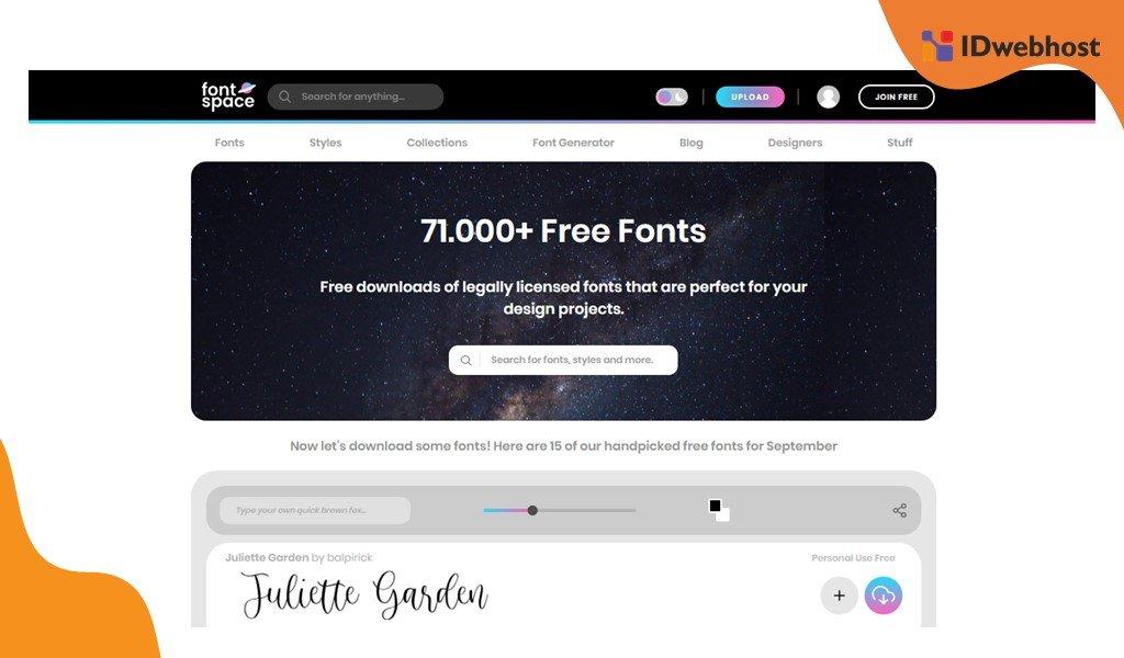 FontSpace Untuk Kebutuhan Font Website