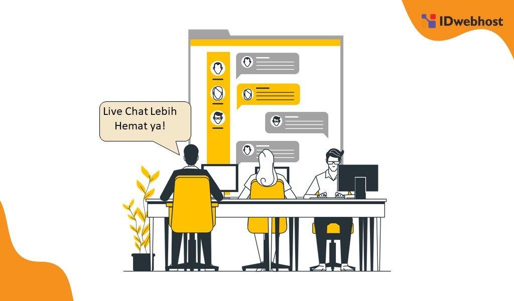 Manfaat Fitur Live Chat Hemat Biaya Komunikasi
