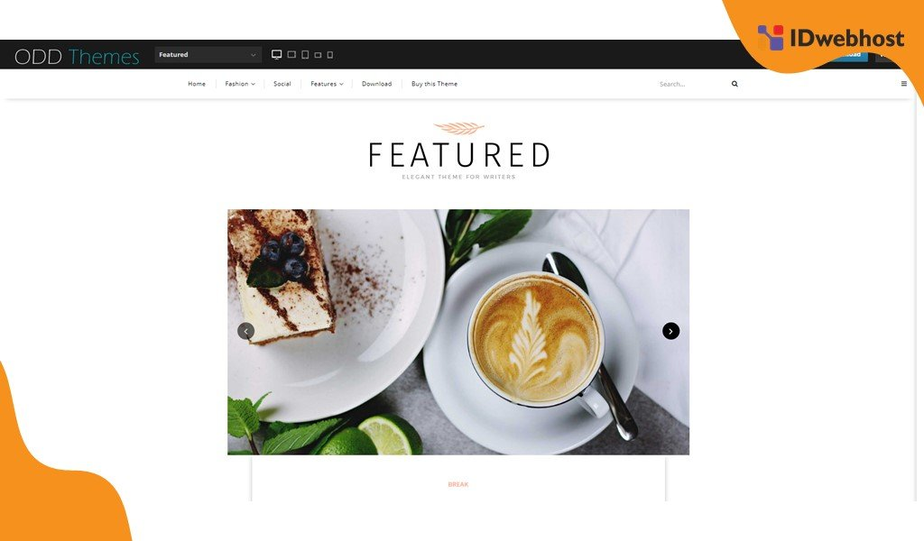 Tema Blog Featured