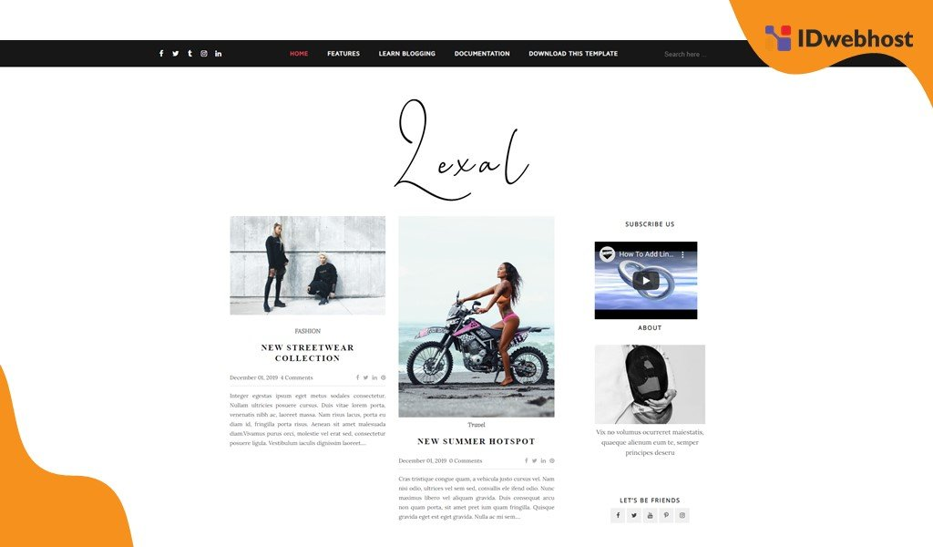 Template Blogger Gratis Terbaik Lexel