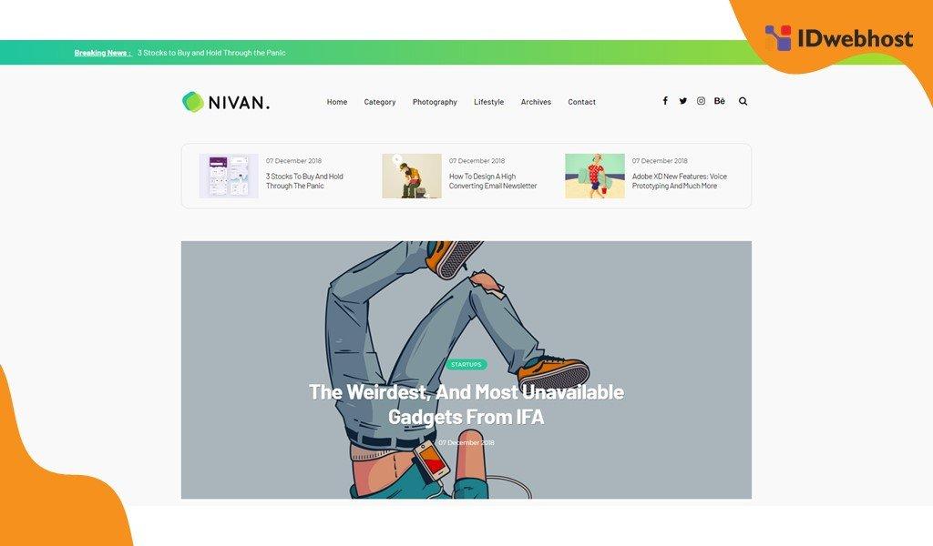 Template Blogger Gratis Terbaik Nivan