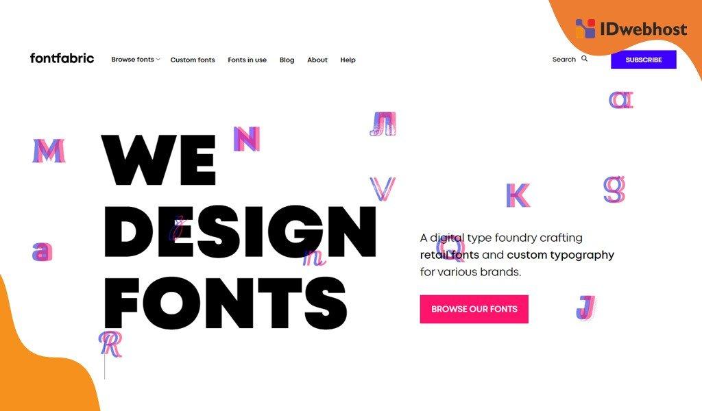 Website Fontfabric