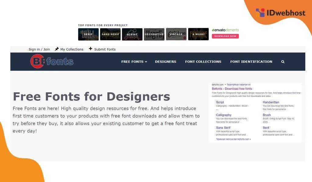 Website Font Gratis Terbaik Befont