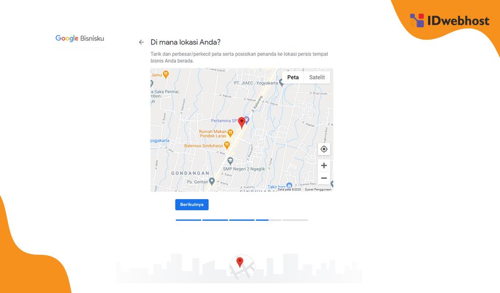 Memasukkan Koordinat Google Maps