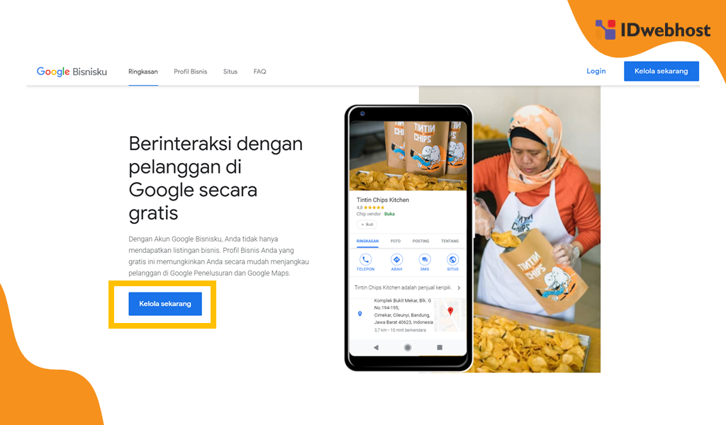 Mendaftar Google Bisnisku Melalui Laman Resmi