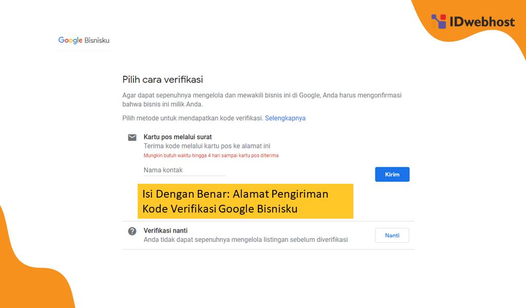 Verifikasi Google Bisnisku
