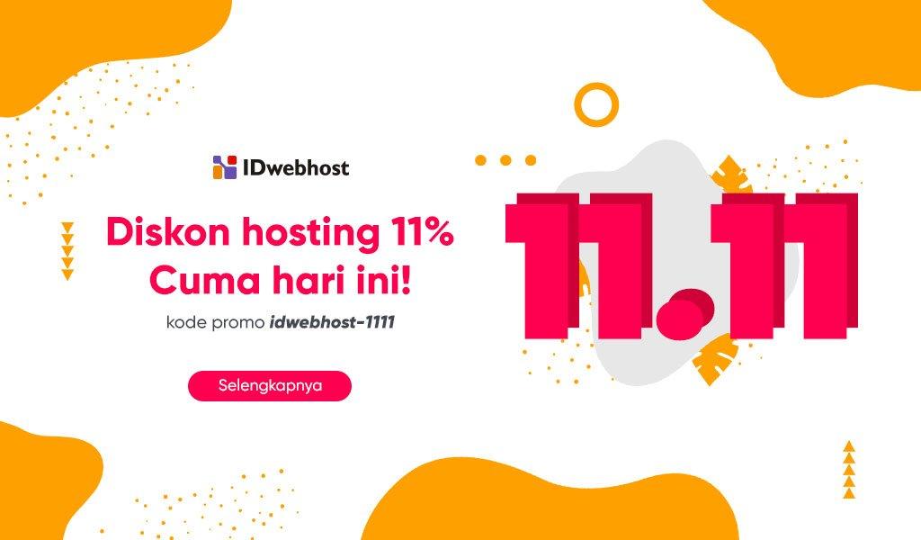 11.11 Spesial Promo Hosting Diskon 11% [Berakhir]