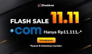 Flash Sale 11.11 Domain .COM cuma Rp11.111,- [Berakhir]