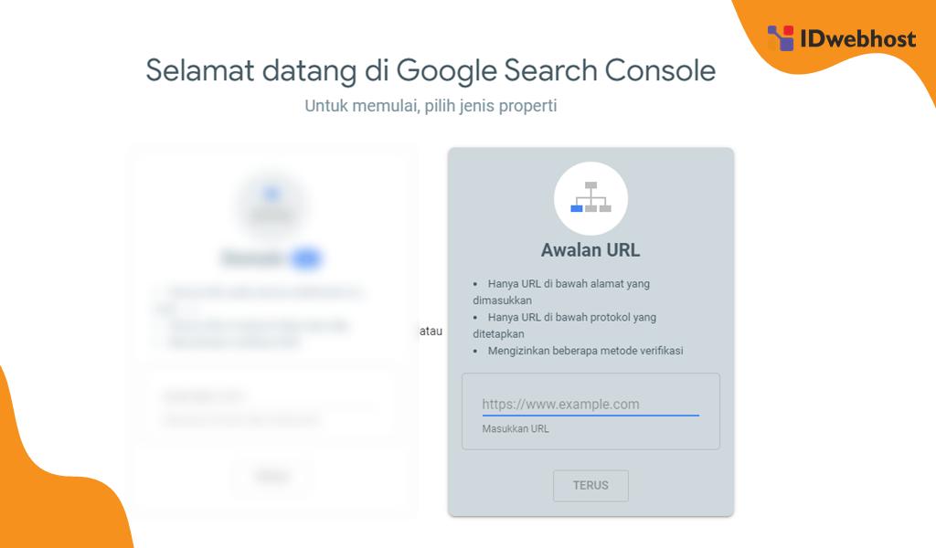 Halaman Pendaftaran Website di Google Webmaster
