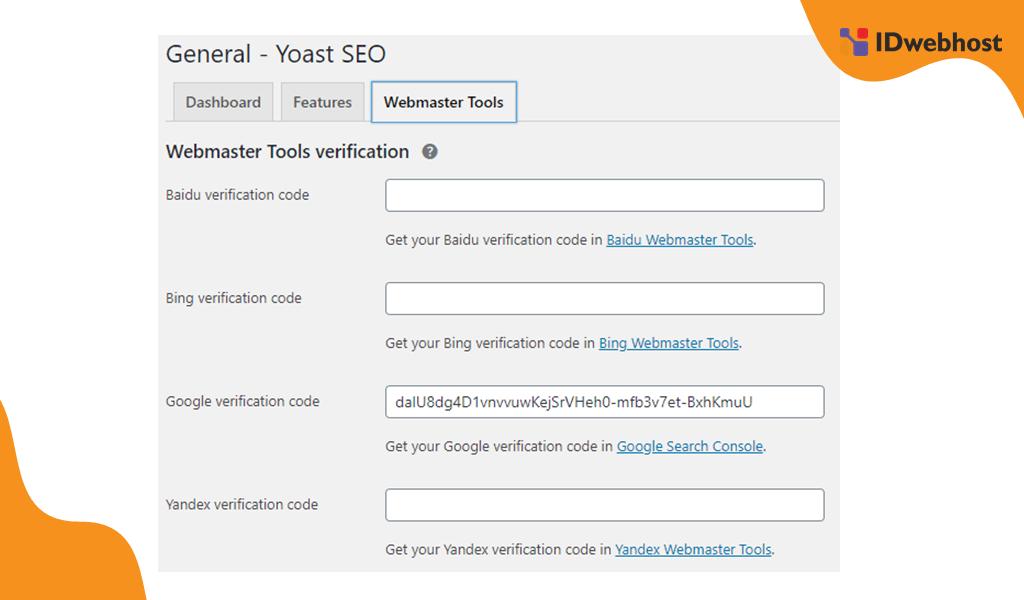 Mendaftar Google Webmaster dengan Plugin Yoast SEO
