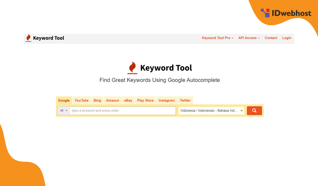 Riset Kata Kunci Dengan Keywordtool.io