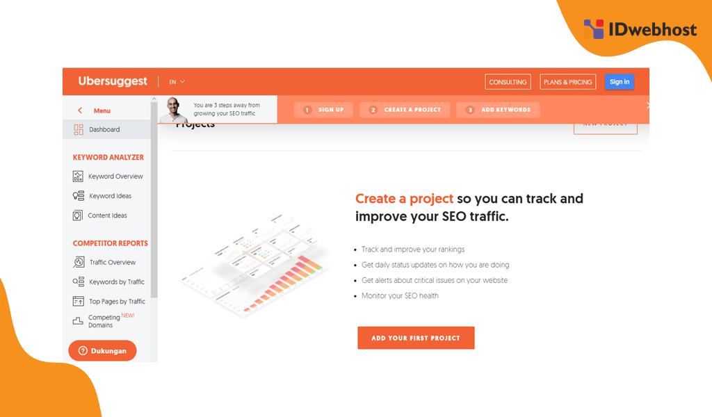 Website Tools Riset Kata Kunci Ubersuggest