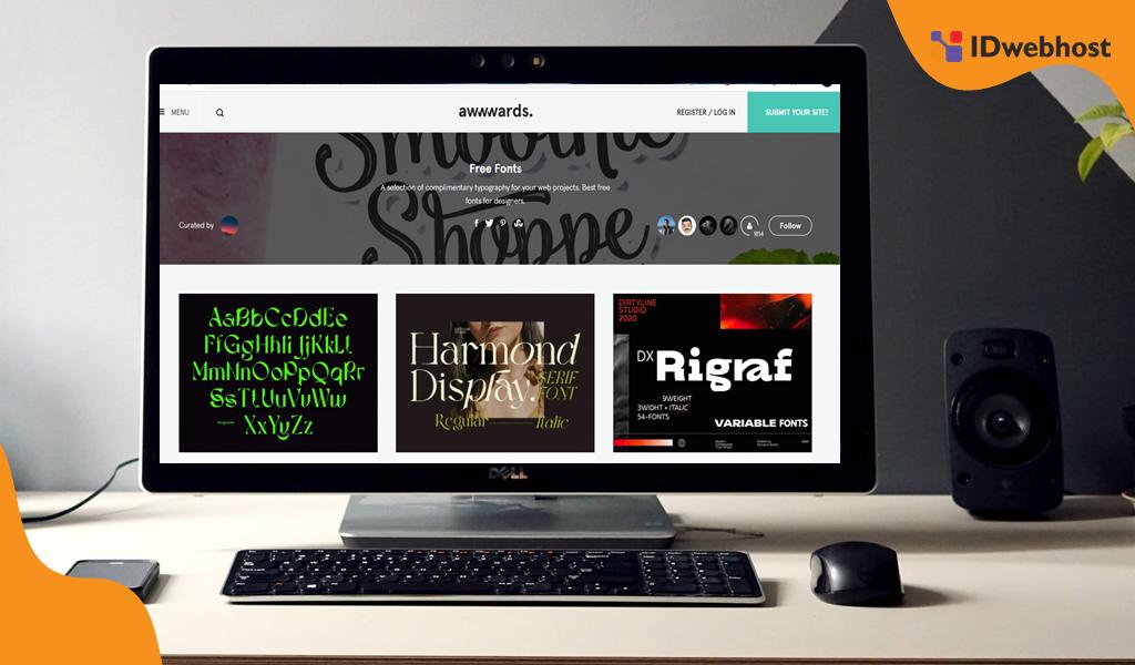 Awwwards.com website font keren web desainer